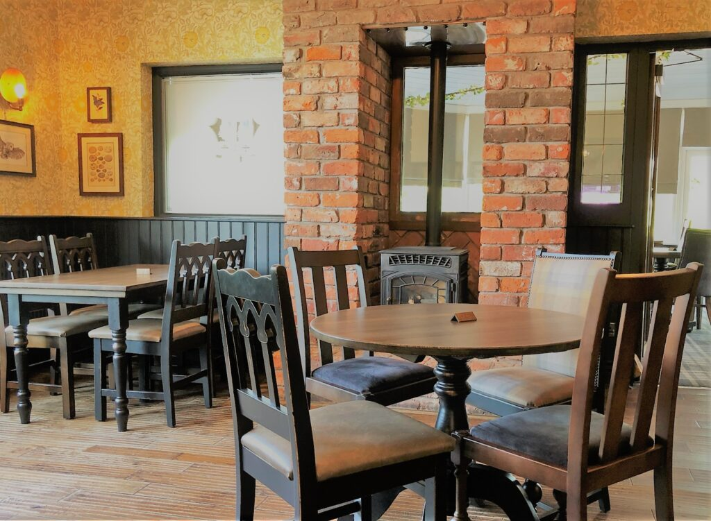 Birley Arms Hotel Warton restaurant seating in our pub