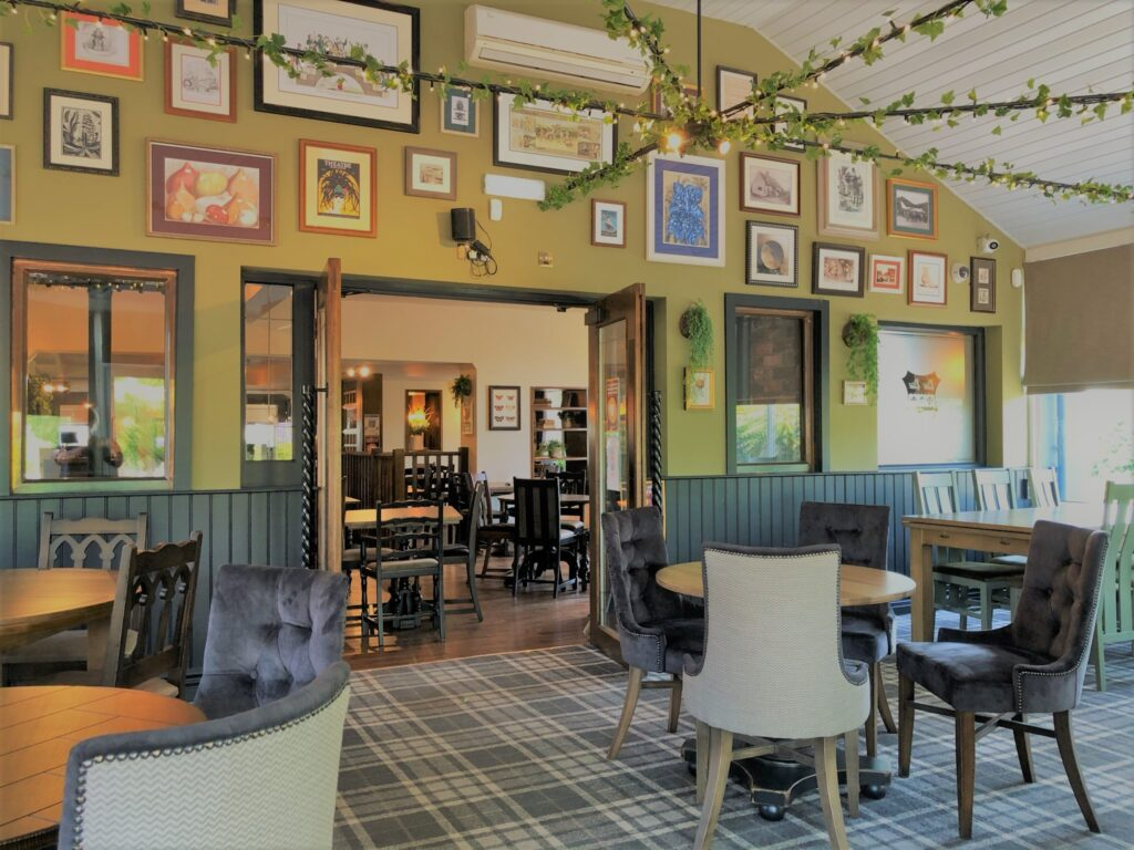 Birley Arms Hotel conservatory interior for casual pub dining