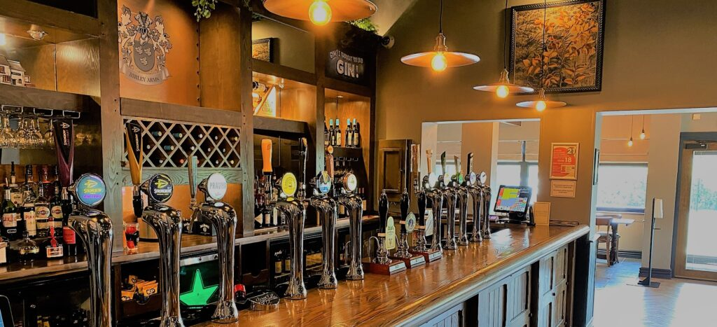 Birley Arms Hotel Warton pub bar beer taps