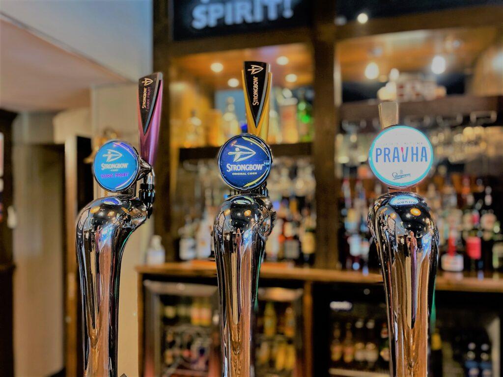 Birley Arms Hotel Warton pub bar beer taps strongbow pravha