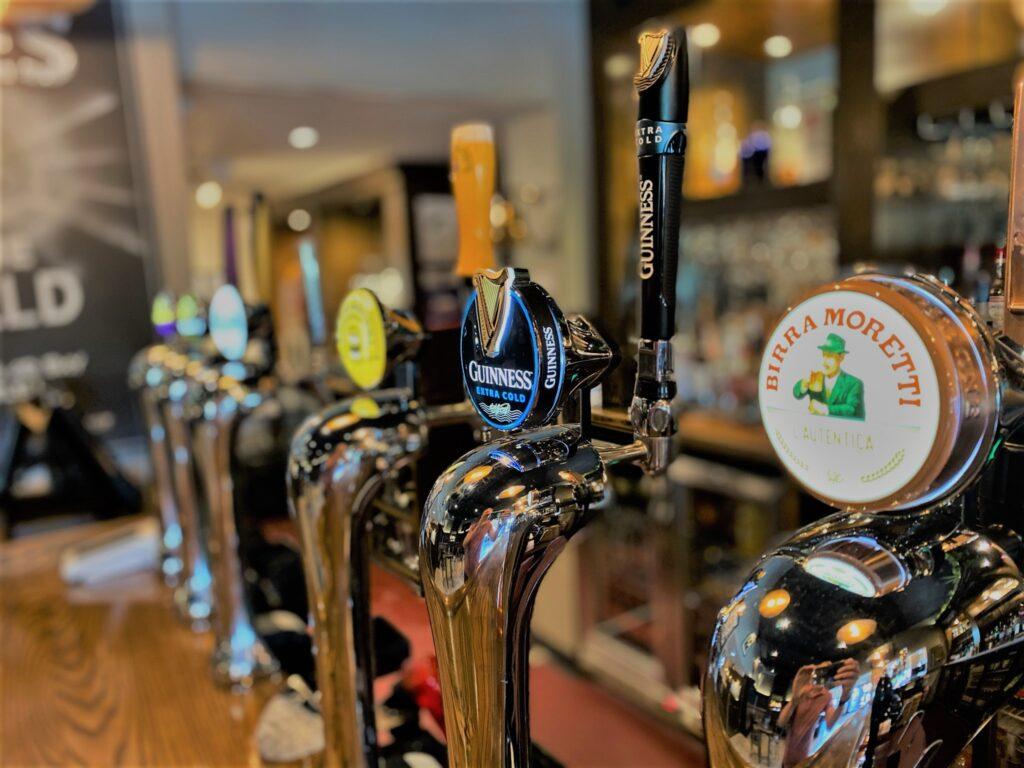 Birley Arms Hotel Warton pub bar beer taps Birrra Moretti Guinness extra cold