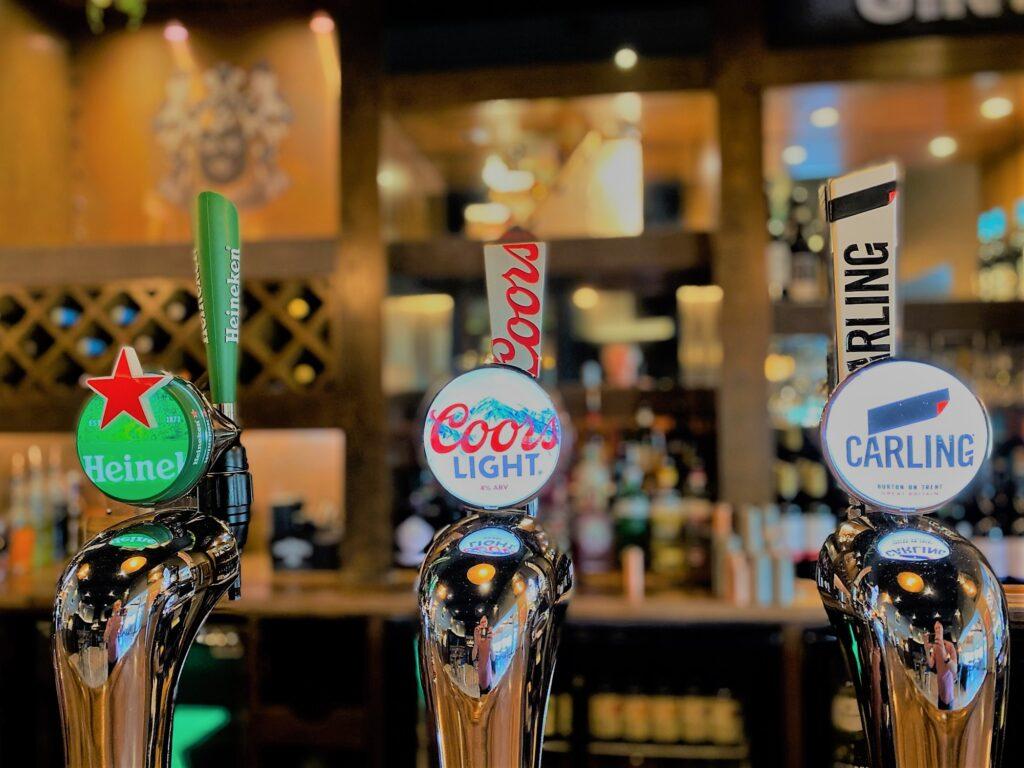 Birley Arms Hotel Warton pub bar beer taps Heineken Coors Light Carling