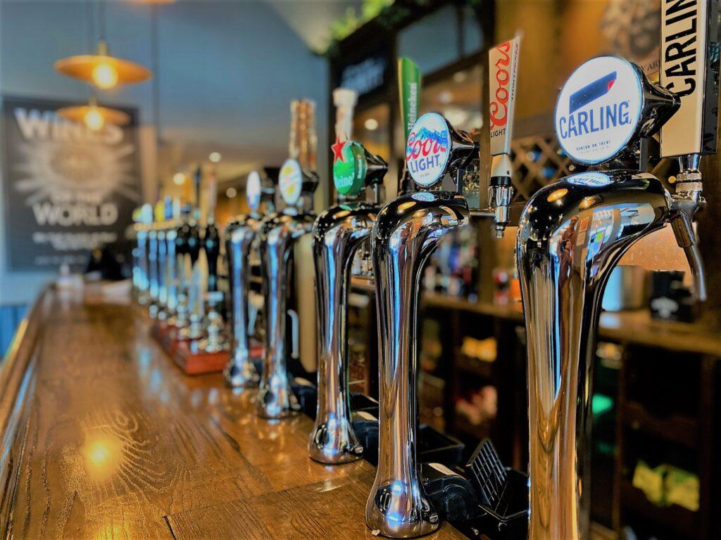 Birley Arms Hotel Warton pub bar beer taps carling cool light Heineken