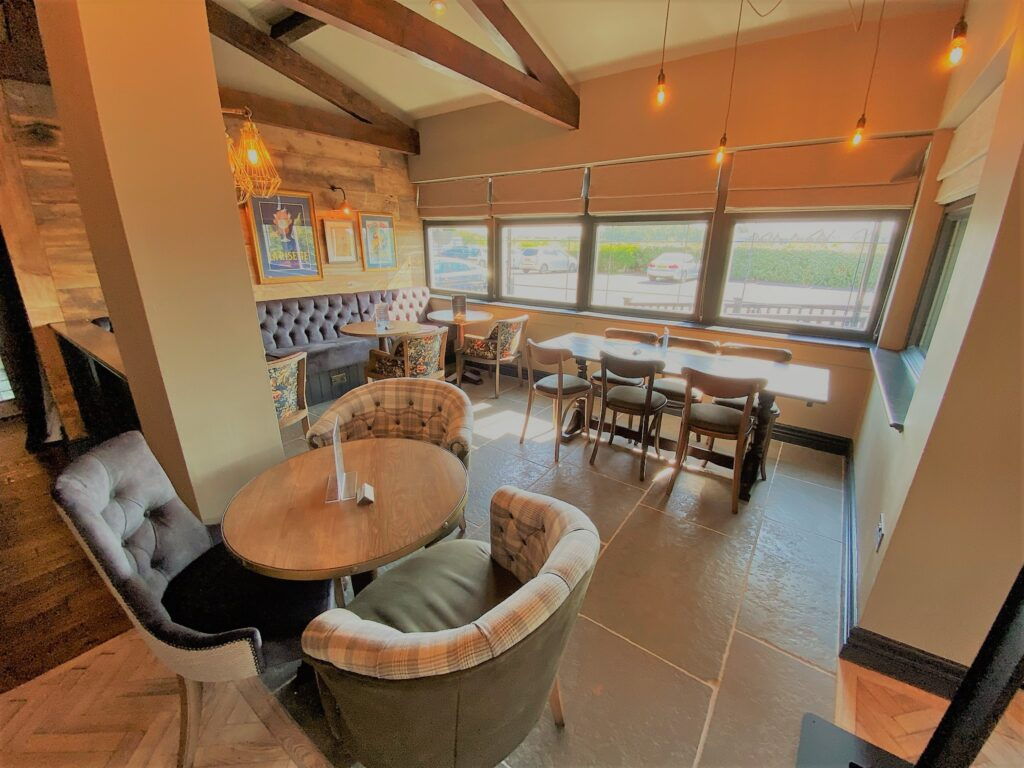 Birley Arms Hotel Warton interior seating for drinking and dining