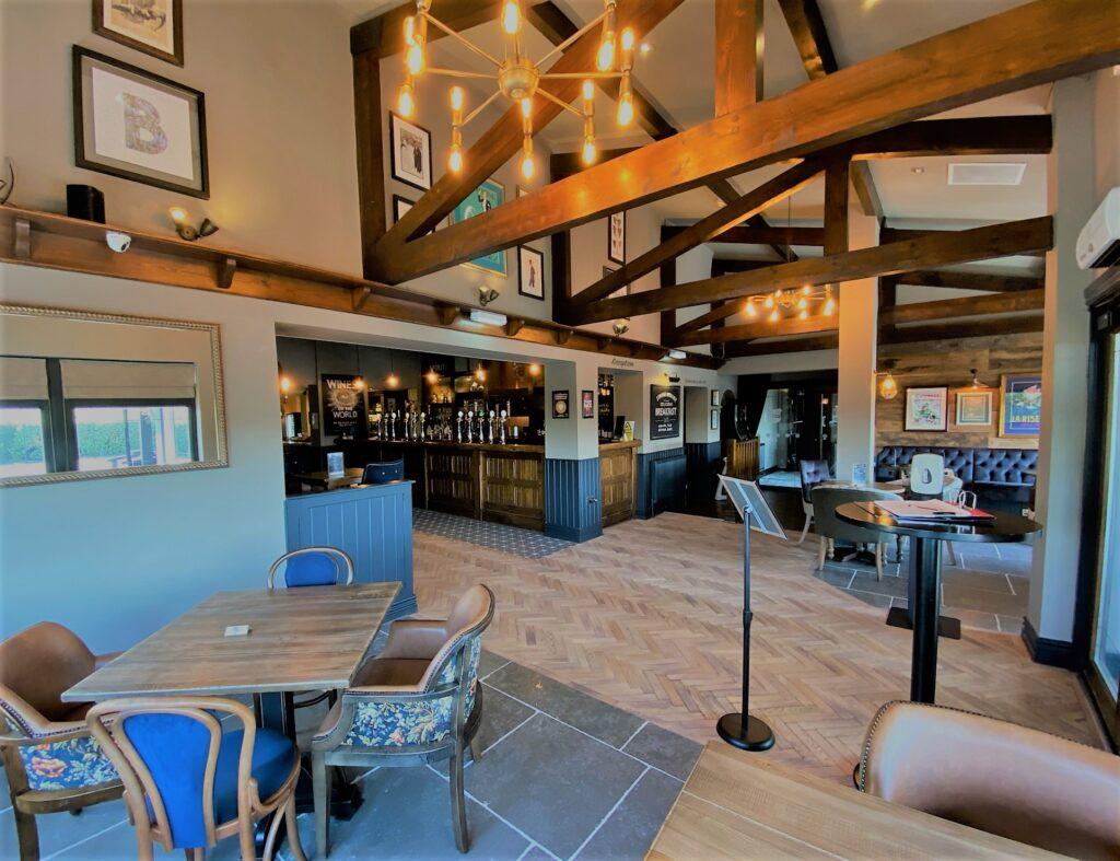 Birley Arms Hotel Warton dining area and main pub bar
