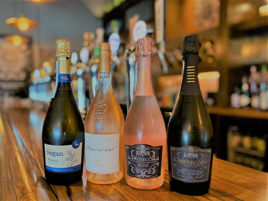 Birley Arms Hotel Warton pub bar sparkling wines selection