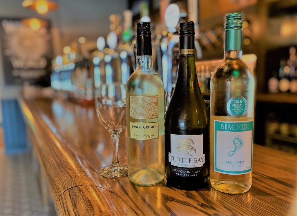 Birley Arms Hotel Warton pub bar white wine