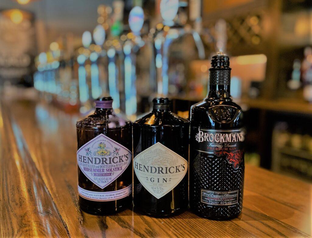 Birley Arms Hotel Warton pub bar gin gins hendrick's brookmans
