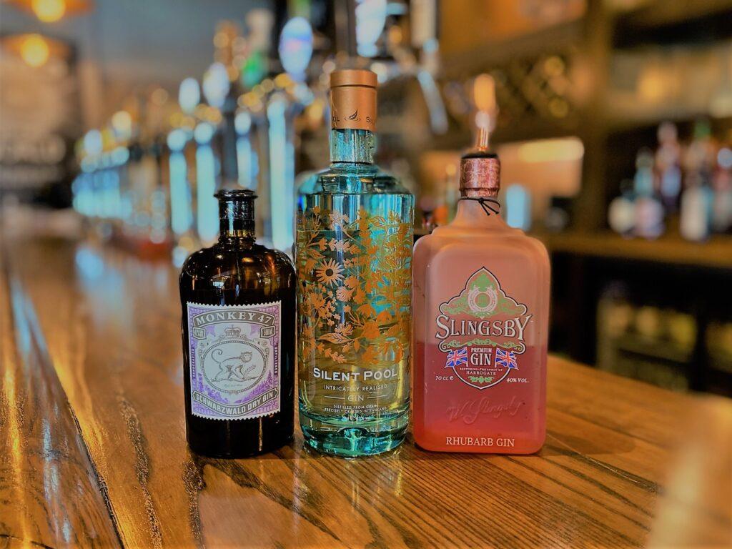 Birley Arms Hotel Warton pub bar gins monkey 47 silent pool slingsby