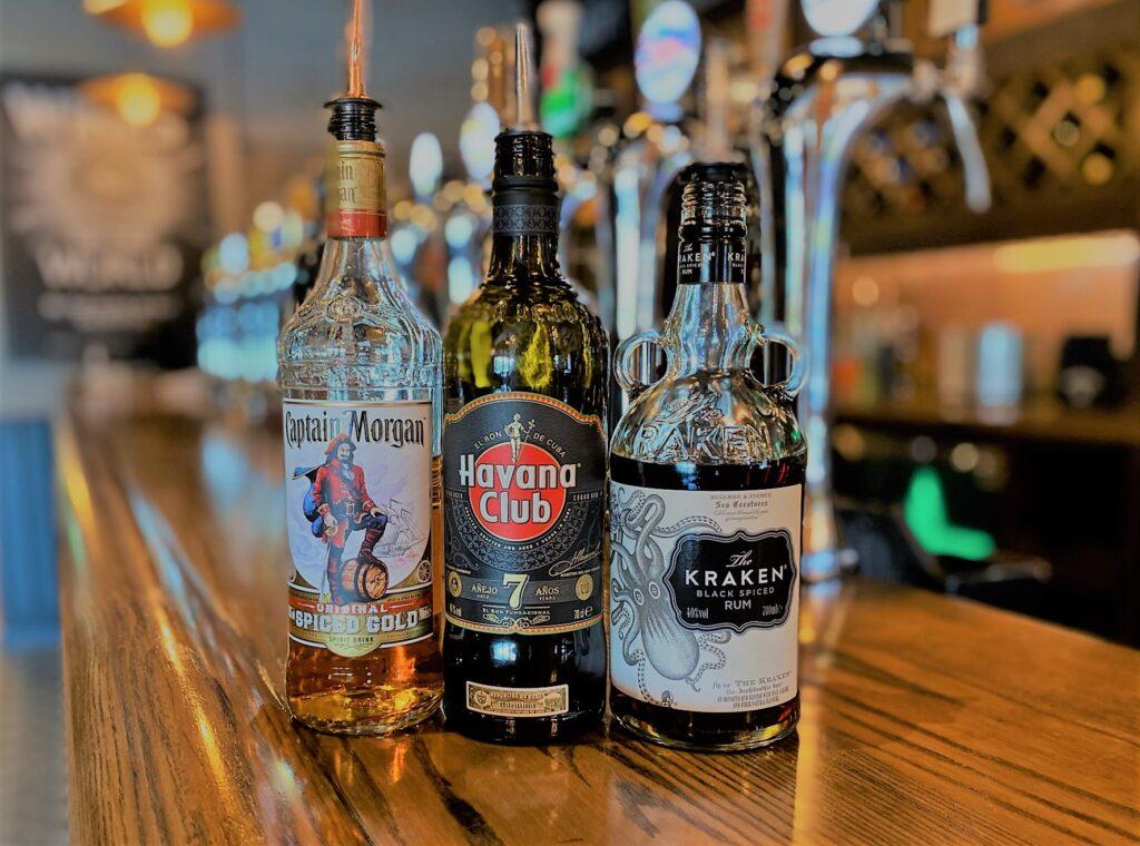 Birley Arms Hotel Warton pub bar whisky captain morgan havana club kraken