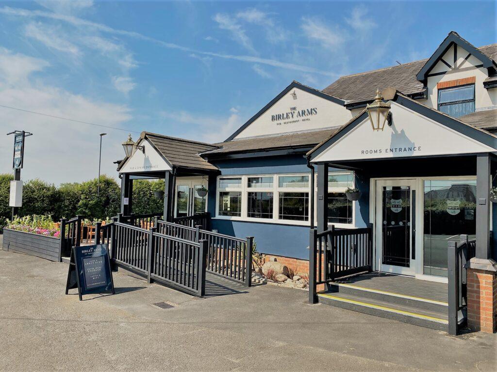 Birley Arms Hotel Warton pub exterior