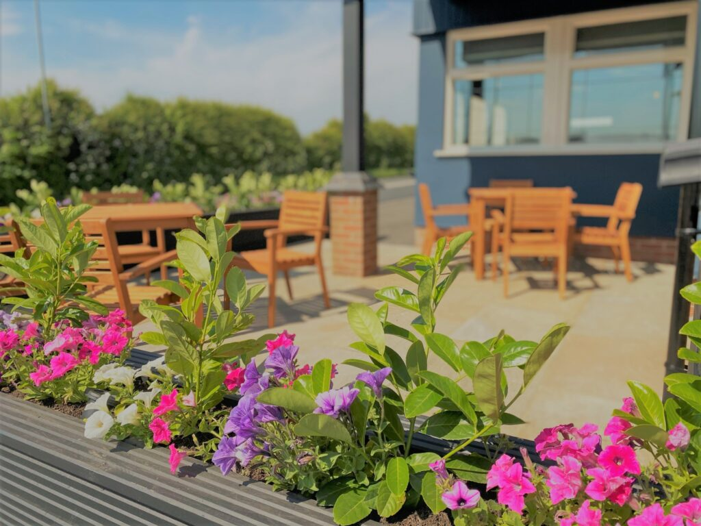Birley Arms Hotel Warton outside seating beer garden